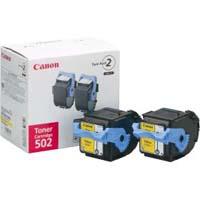 Canon トナーカートリッジ カートリッジ502 2P(イエロー) 純正品(2本パック)