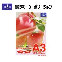 ラミーコーポレーション パックラミネートフィルム A3判(100枚/1箱) 100μタイプ